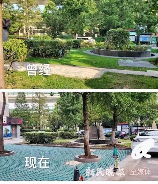 南门绿化带改成停车场.jpg