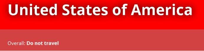 澳大利亚发布旅行安全提示:不要去美国