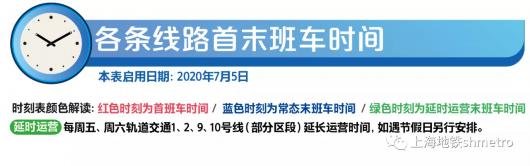 明起实行!最新上海地铁首末班车时刻表请收好