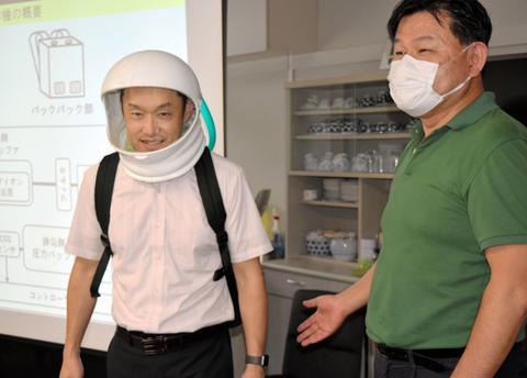 日本研發頭盔型口罩:形如宇航服 能調控溫度(