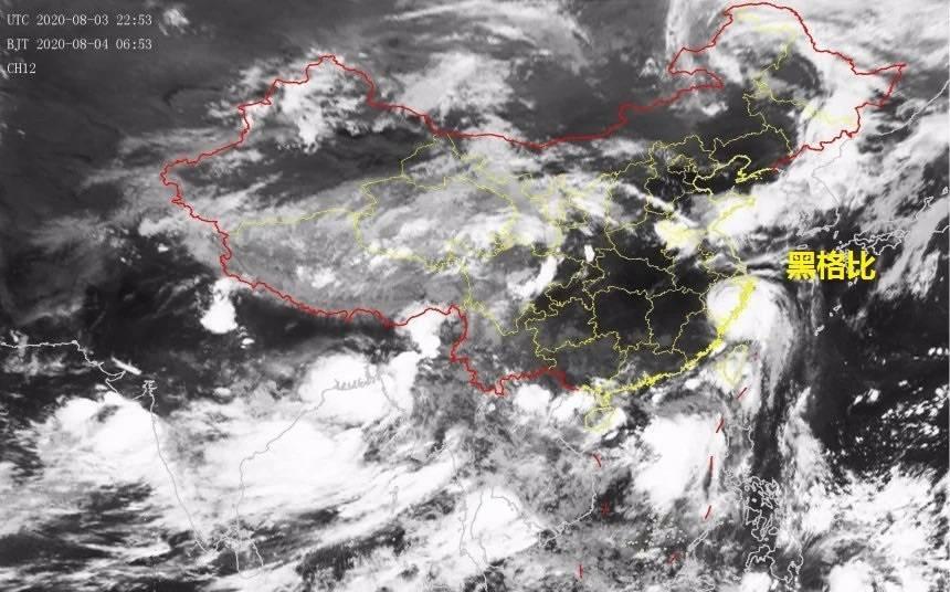 """台风""""黑格比""""预计今晚经过上海同纬度 局部雨量可达暴雨"""
