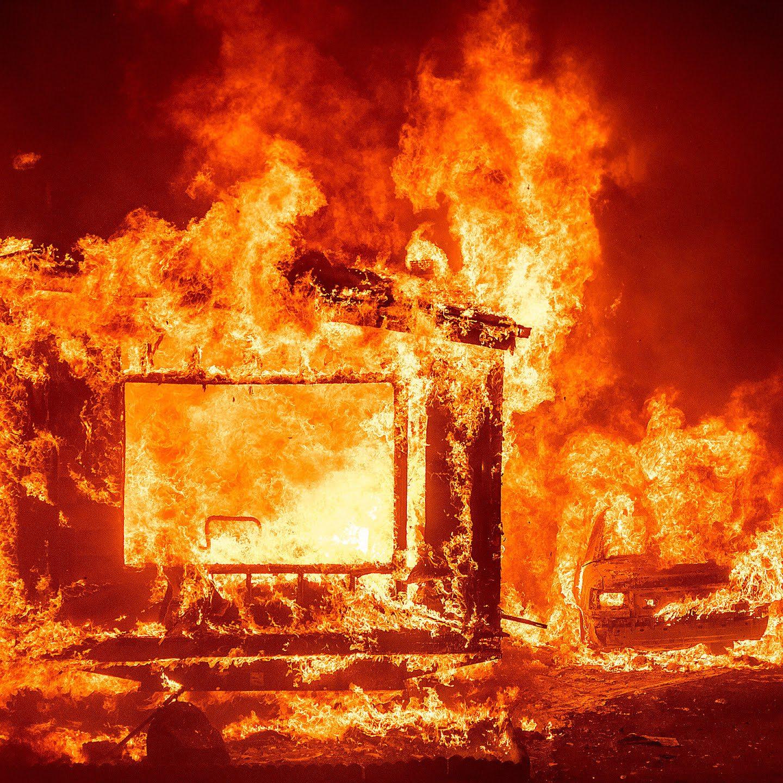 美国加州高温破纪录 山火或继续蔓延
