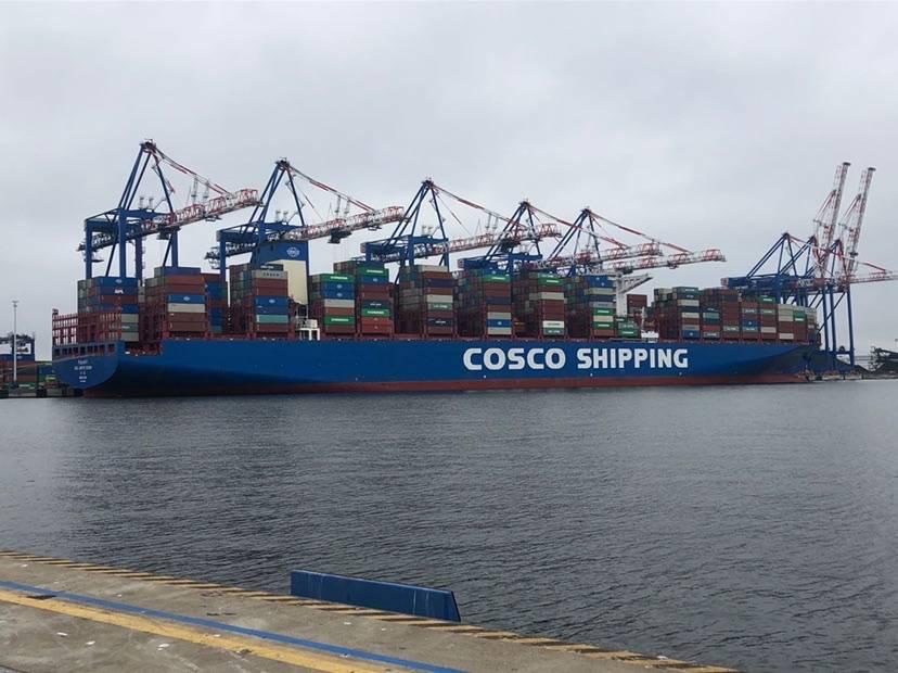 推土机漂洋过海来沪 中远海运承运首单第三届进博会展品在波兰成功起运