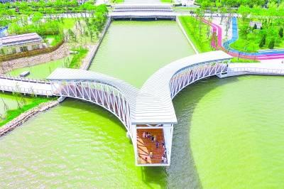 """滴水湖畔景观带贯通 """"赤橙黄绿青蓝紫""""七座景观桥名字定了"""