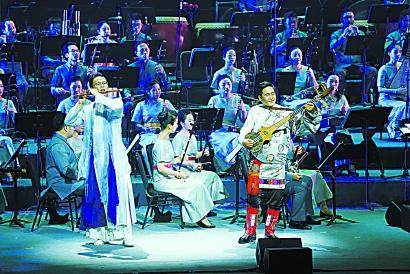 与对口支援七地演奏家同台 上海民族乐团《锦绣中华·共饮江河水》首演