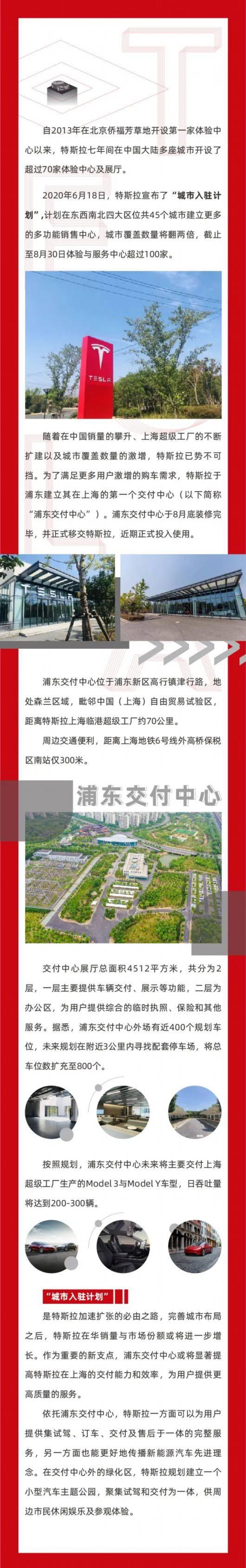 全国最大特斯拉交付中心落户上海浦东,每天可交付300辆