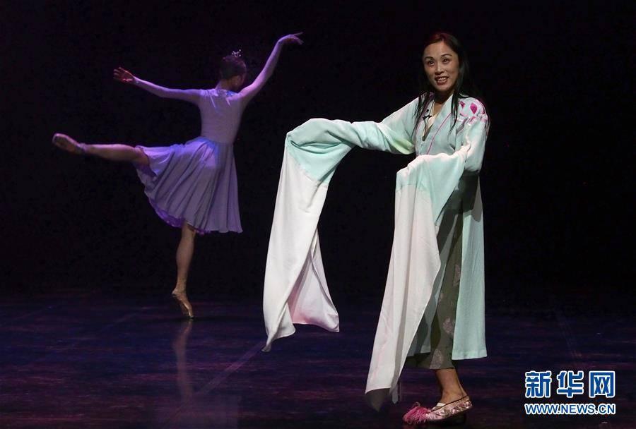 (文化)(3)现代芭蕾作品《绽放》在沪演出