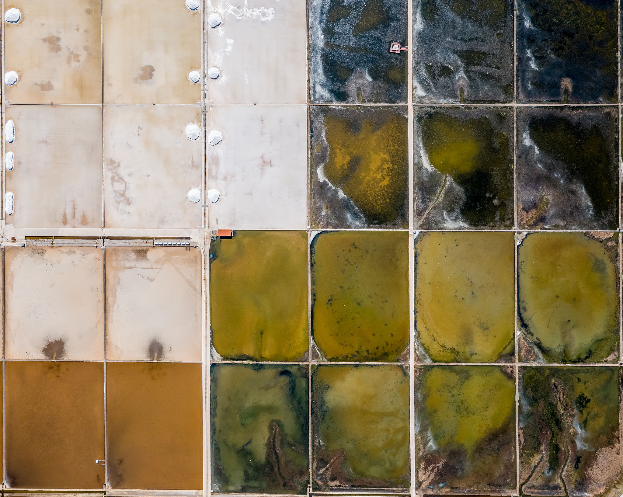 克羅地亞:鹽沼池蒸發現奇觀 分割規則宛若眼