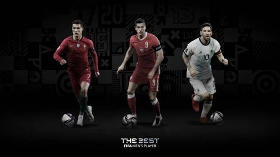 国际足联官宣世界足球先生3位候选人 莱万能