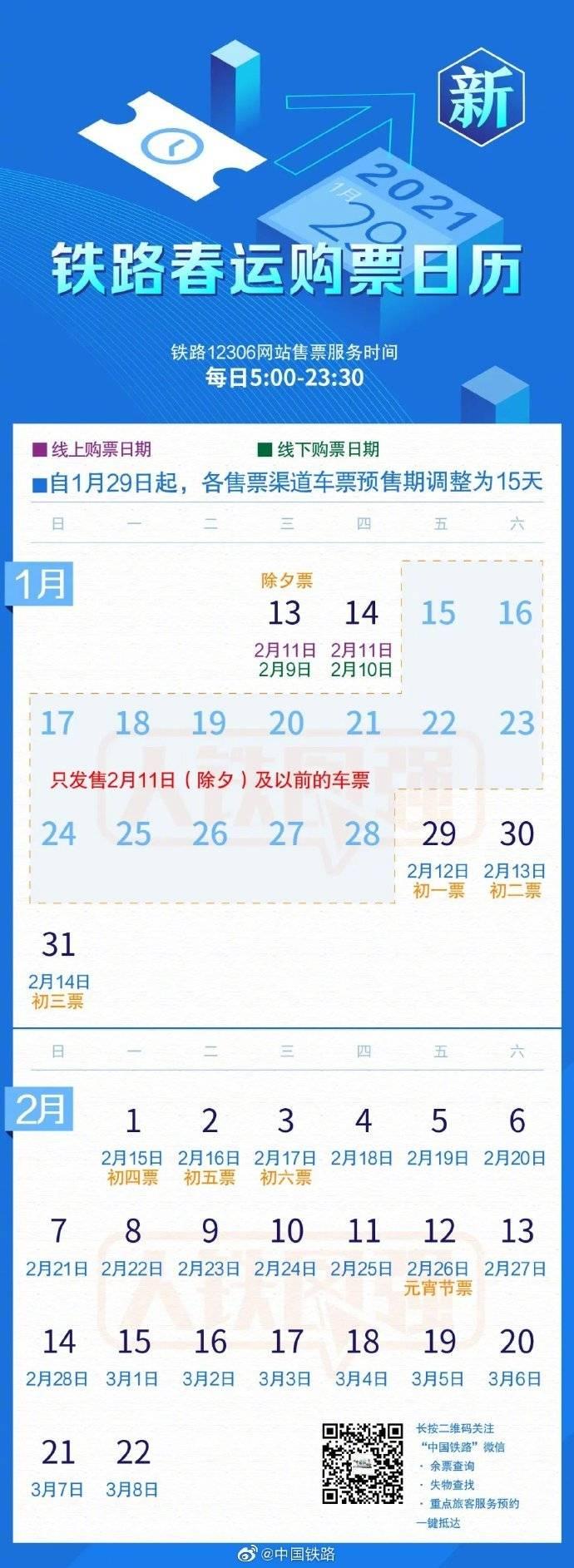 《【杏耀平台手机版登陆】铁路部门调整车票预售期为15天,开车前8天及以上免费退票》