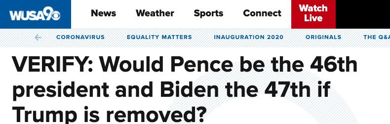 部分美国媒体开始探讨,如果特朗普被弹劾,彭斯是否会成为第46任美国总统。