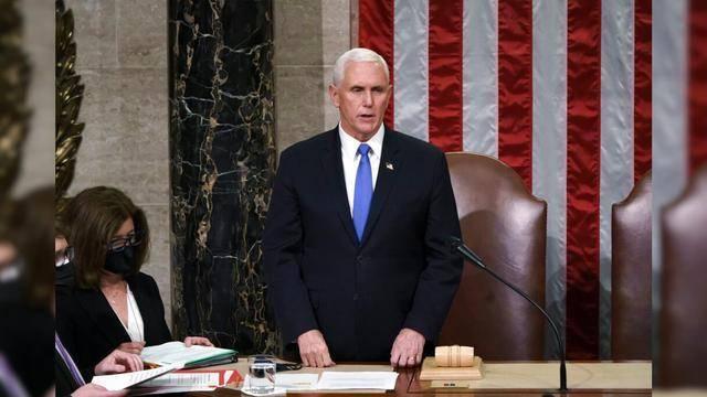 美国副总统彭斯在6日出席在华盛顿特区举行的国会联席会议,认证选举人票。之后他在12日表示,自己不会援引美国宪法第25条修正案弹劾现任总统特朗普。