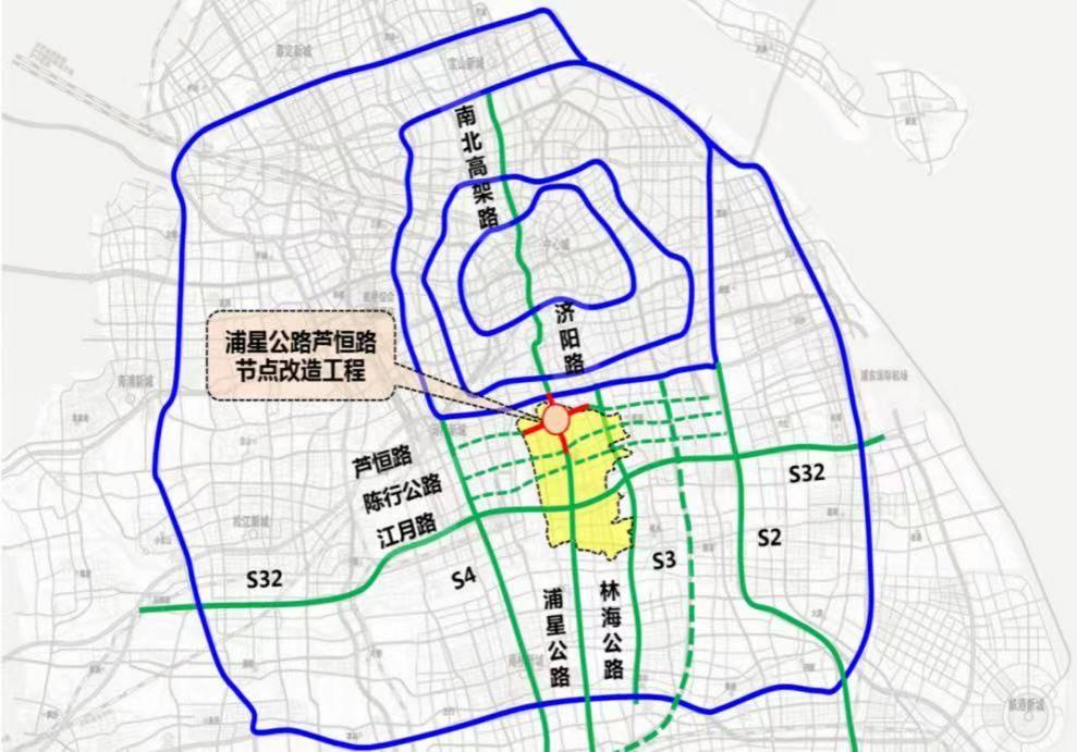"""上海南北交通大动脉畅通""""大手术"""": 浦星公路跨芦恒路节点改造工程建成通车"""