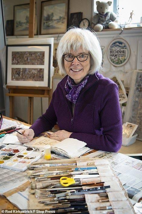 摩登5娱乐一个英国业余插画师苏·普林斯从去年3月英国开始隔离开始,用画笔记录了她一年的生活(图1)