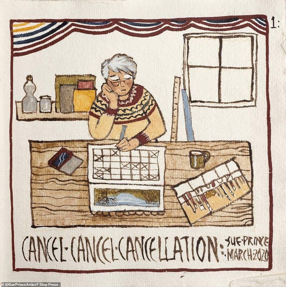 摩登5娱乐一个英国业余插画师苏·普林斯从去年3月英国开始隔离开始,用画笔记录了她一年的生活(图2)