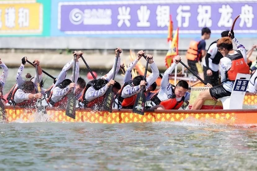 """燃!53支队伍竞渡""""苏河之冠"""" 2021年苏州河龙舟赛决出冠军"""