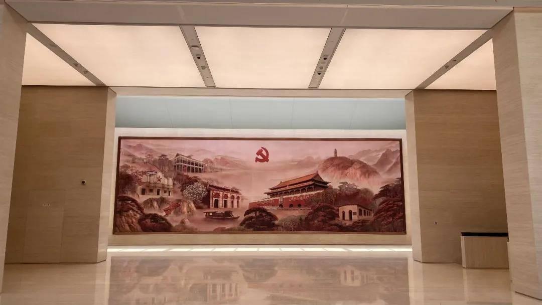 """中共一大纪念馆里这些艺术品看过了吗?出自党创办的第一所正规大学师生之手的""""风云际会"""""""