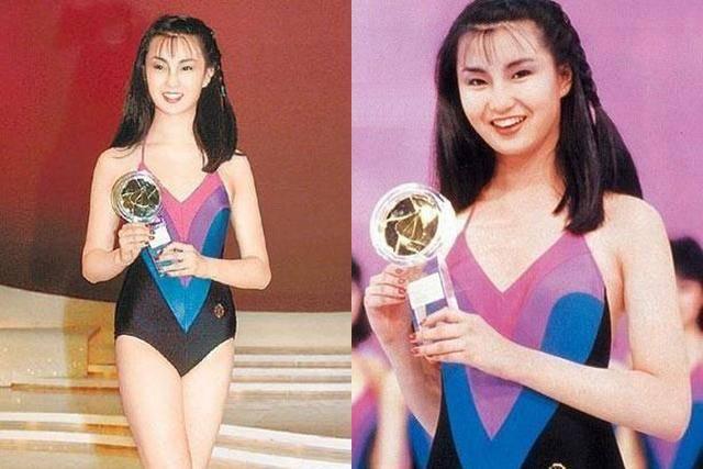 星辉登录19岁的张曼玉长发飘飘,穿着连身泳装出镜,清纯甜美充满了青春活力