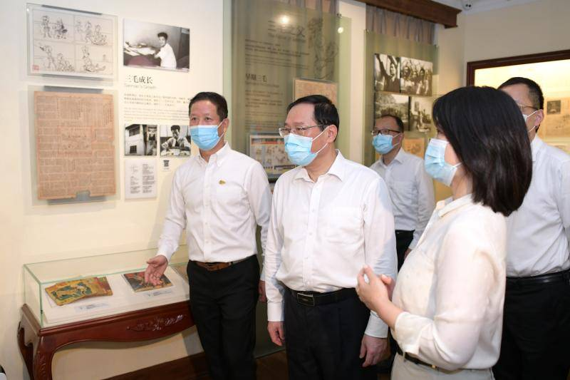 在张乐平故居调研。