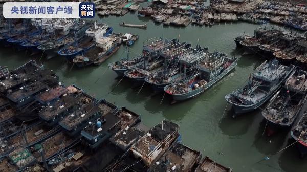"""?近4000艘渔船回港 福建漳州严阵以待抵御台风""""卢碧"""""""