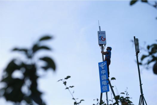 中国电信为沙洲村建设的5G基站