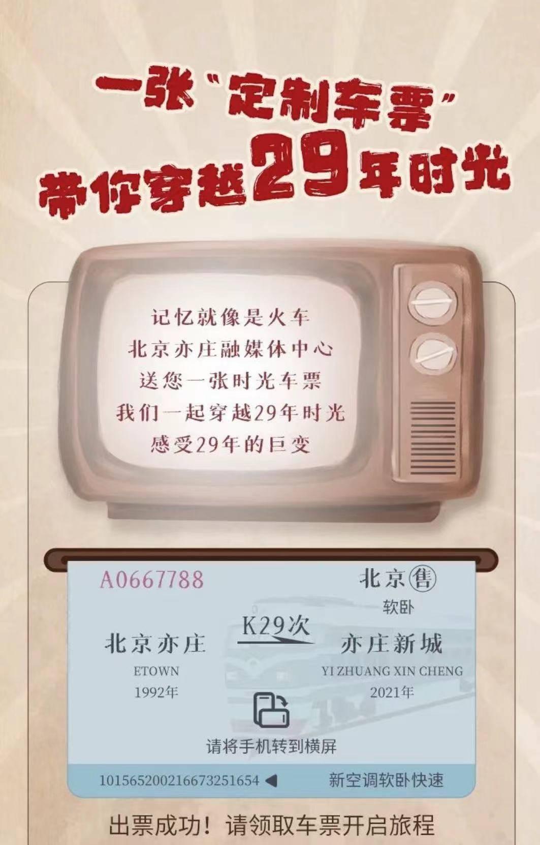 一张神奇的车票,带你穿越北京经开区的29年!