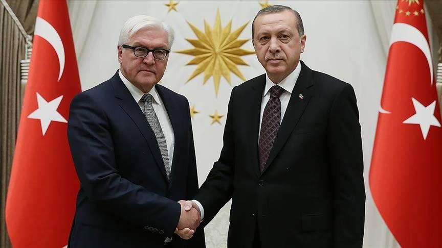 土耳其总统埃尔多安与德国总统施泰因迈尔通电话