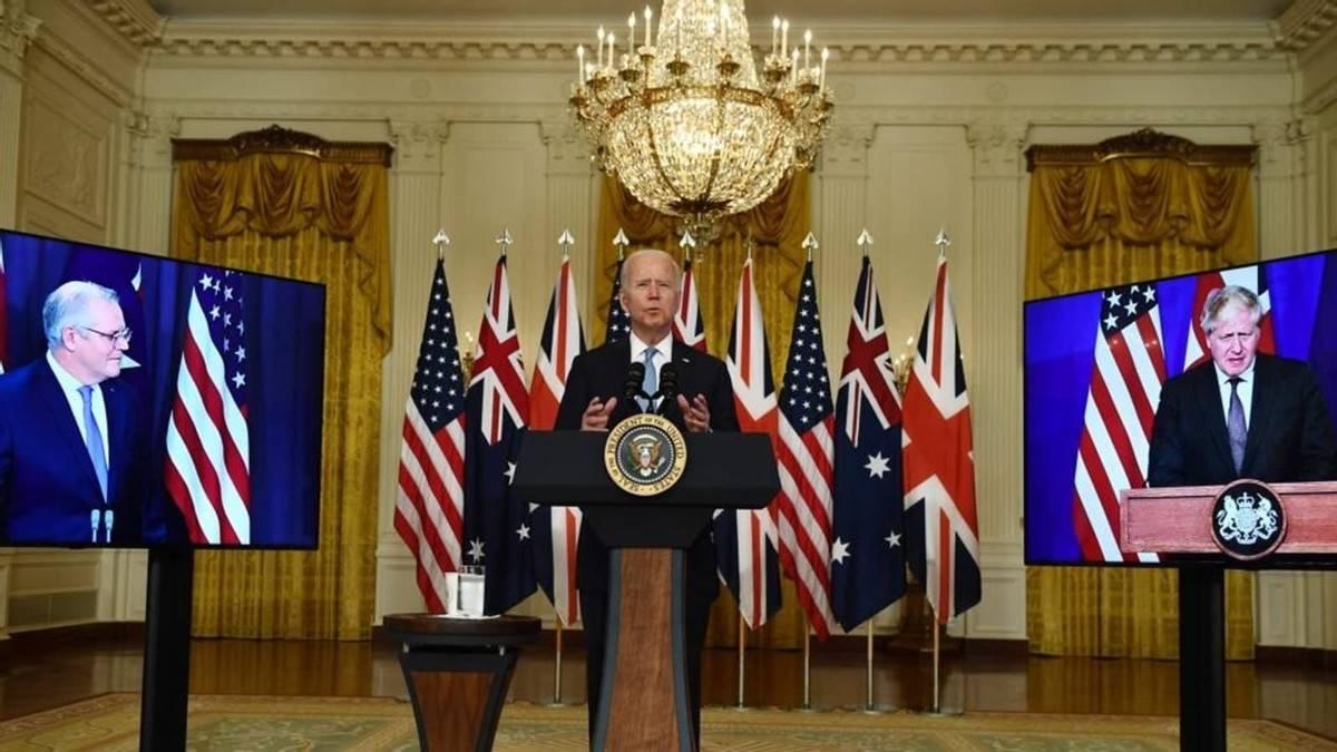 """美英澳组建军事小集团""""AUKUS""""开发核潜艇,剑指中国?"""