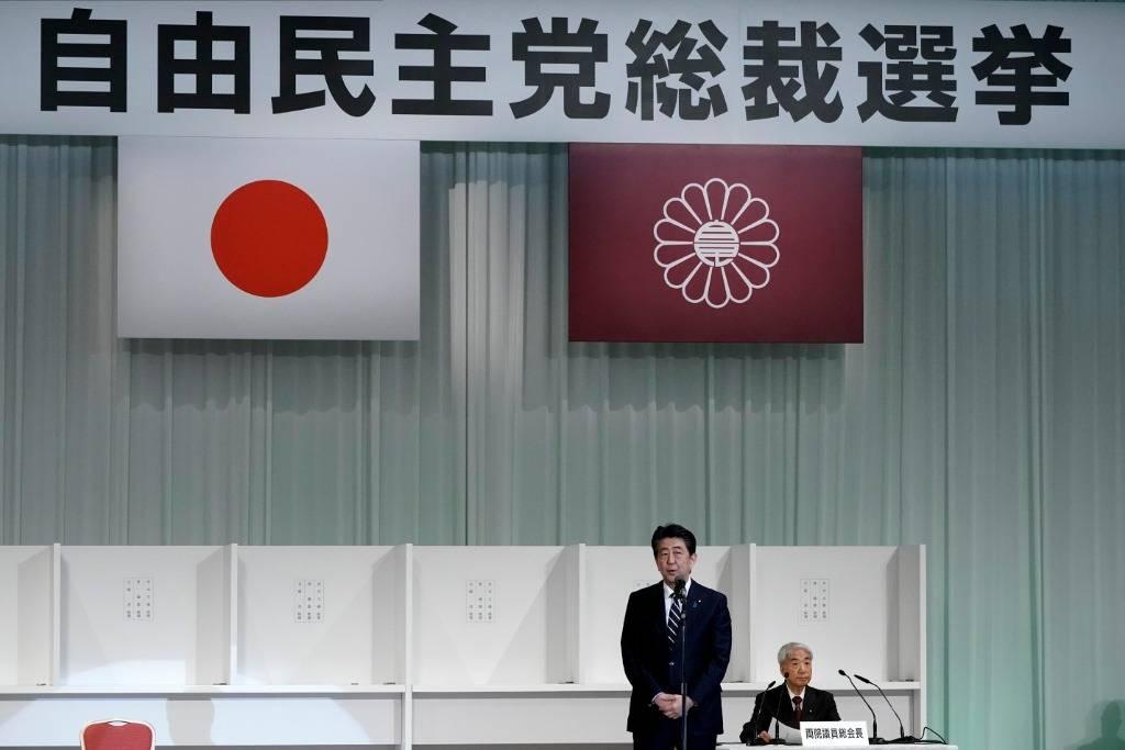 日本自民党党首选举将四强对决