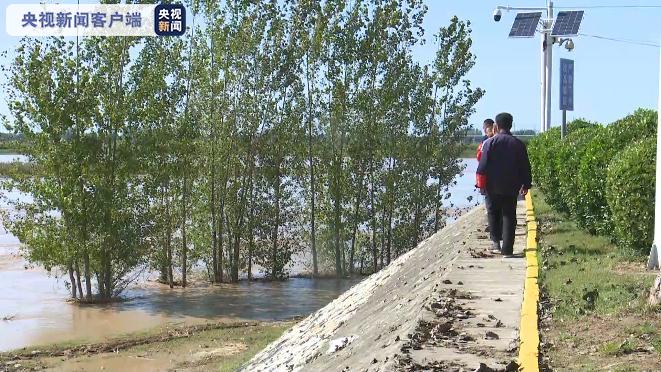 渭河2021年1号洪水正通过渭南华州区向黄河演进 沿线各部门...
