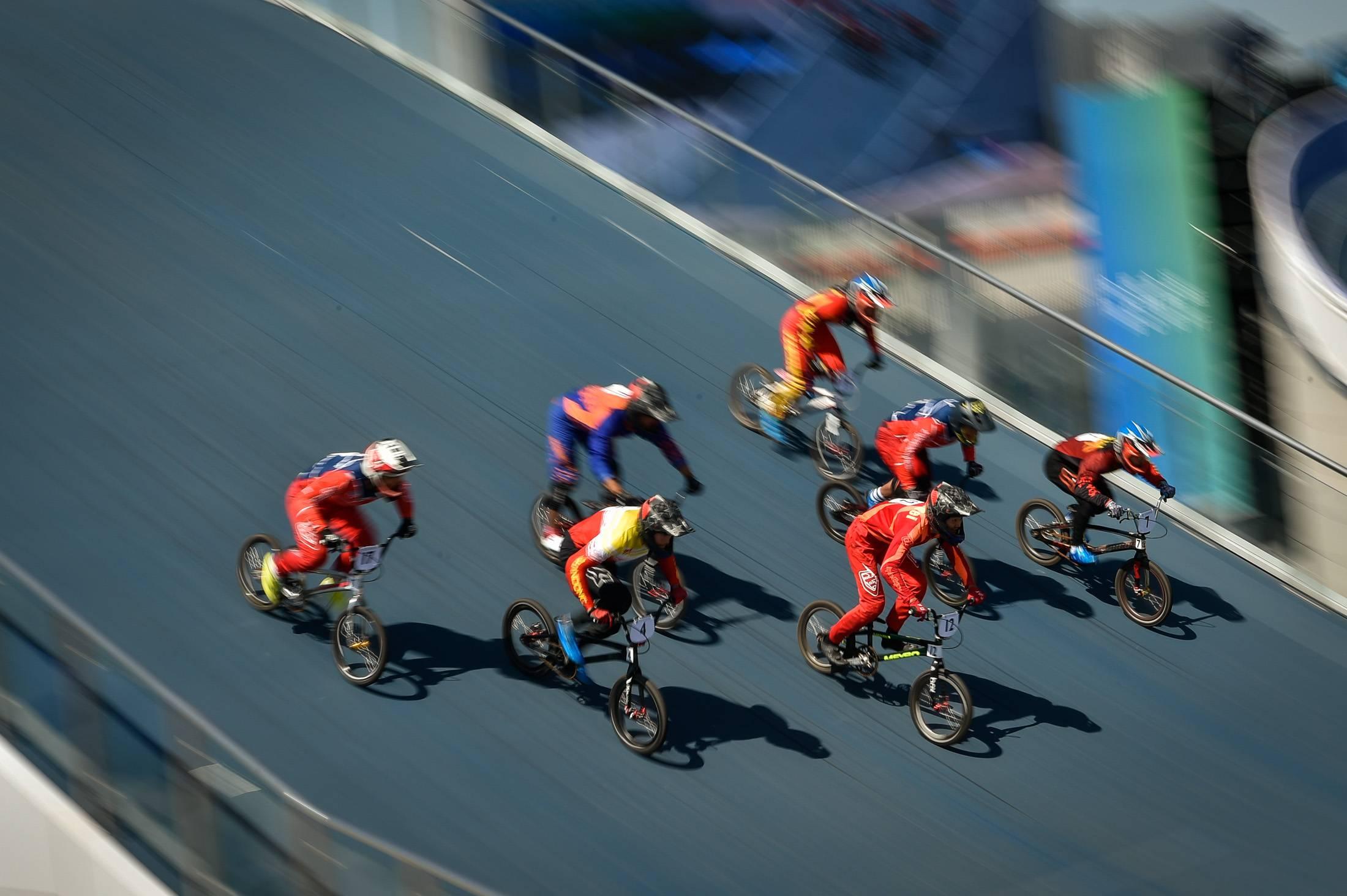 视觉直击全运赛场   小轮车赛场上的竞速魅力
