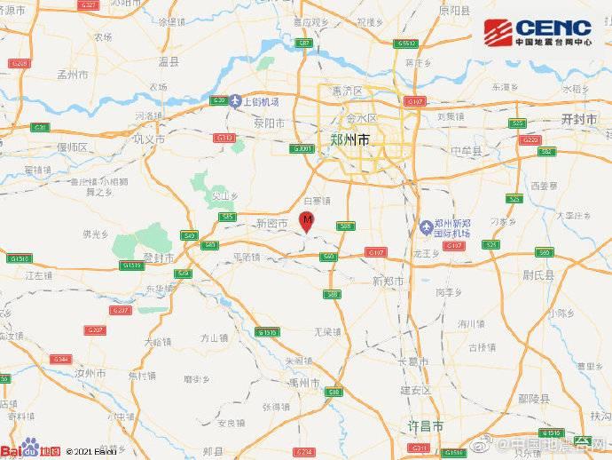 河南郑州新密市发生3.0级地震,疑似塌陷