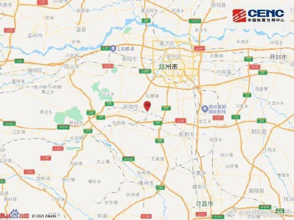 郑州新密发生3.0级地震 疑似塌陷