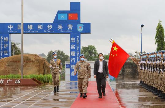 我驻南苏丹大使馆慰问中国维和步兵营官兵