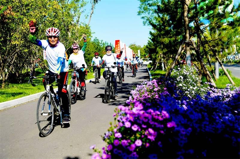 """""""世界无车日""""全民健身健康骑行月在城市副中心启动"""