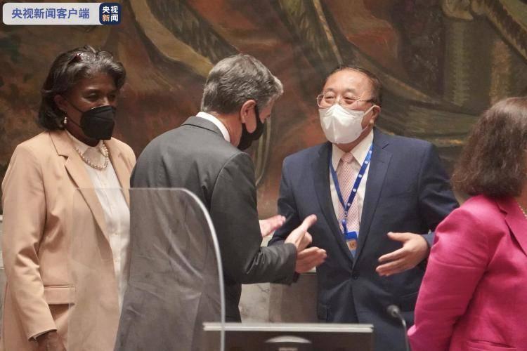 联合国安理会常任理事国外长与古特雷斯举行会晤