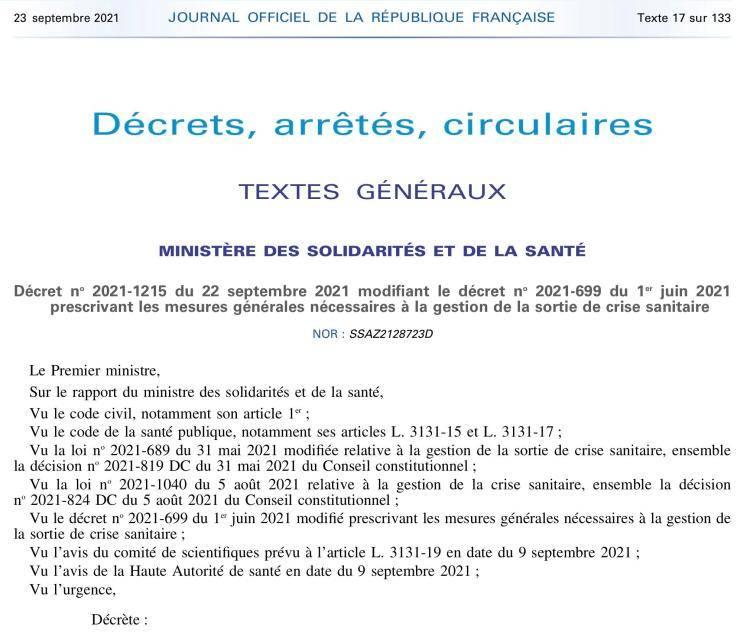 """法国政府:接种世卫批准但未在欧盟上市疫苗可有条件获取""""健康通..."""