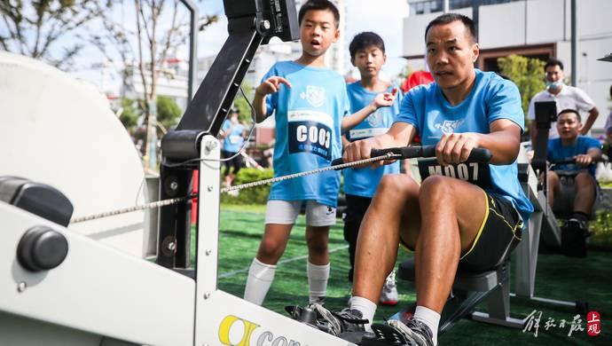 大人小孩齐上阵,近200位选手热情参与体能比拼