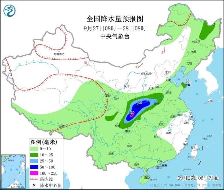 陕西四川盆地黄淮西部等地有较强降水