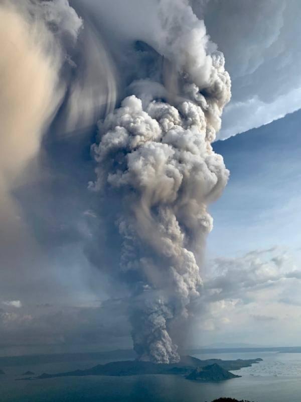中国驻菲律宾大使馆提醒中国公民在塔阿尔火山喷发期间注意安全