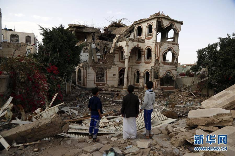 (国际)(2)也门:空袭废墟