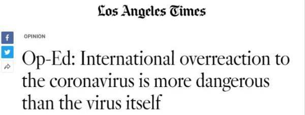 新冠病毒是一场考验,临考的不仅仅是中国【外媒深一度】