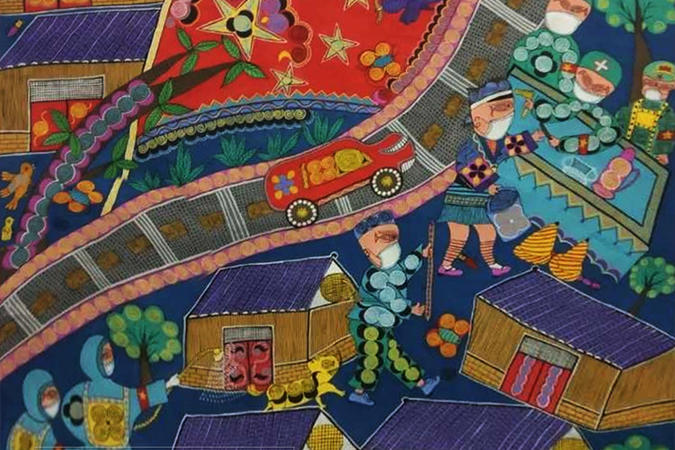"""網上觀展丨天眼新聞APP參與倡議、中國美協民族美術藝委會、貴州省美協聯手開展的""""貴州美術戰'疫'行動""""第七批作品展示正在進行德州扑克玩法"""