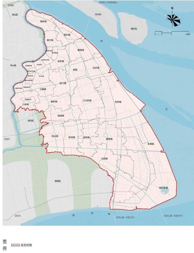 浦东国土空间总体规划正式发布,研究预留经大洋山至宁波、舟山方向铁路通道