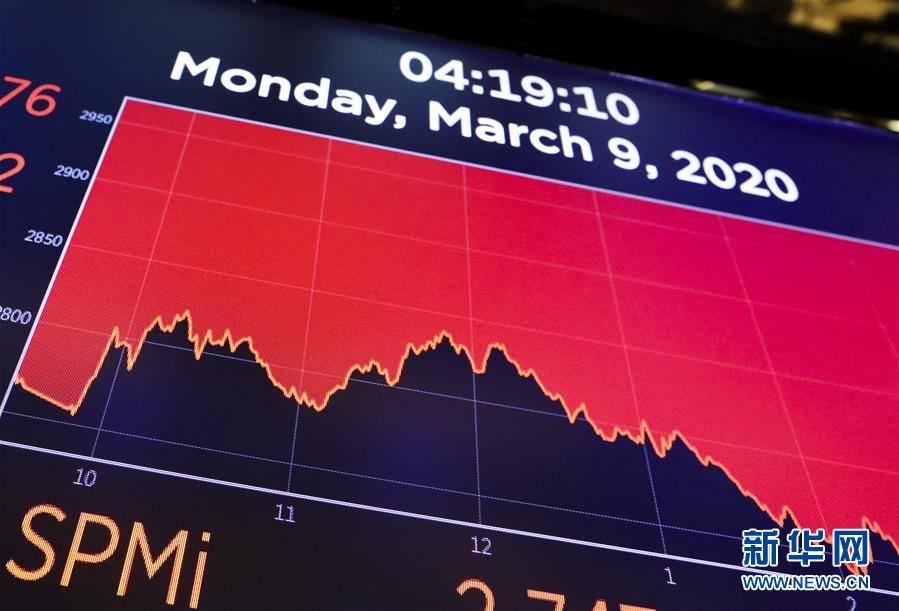 (国际·图文互动)油价大跌与疫情扩散引发纽约股市暴跌逾7%